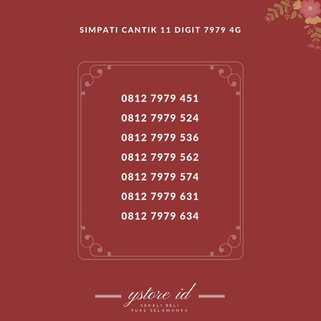 NOMOR CANTIK SIMPATI DOUBLE TRIPLE KARTU PERDANA TELKOMSEL 4G SERI 222 444 | Shopee Indonesia