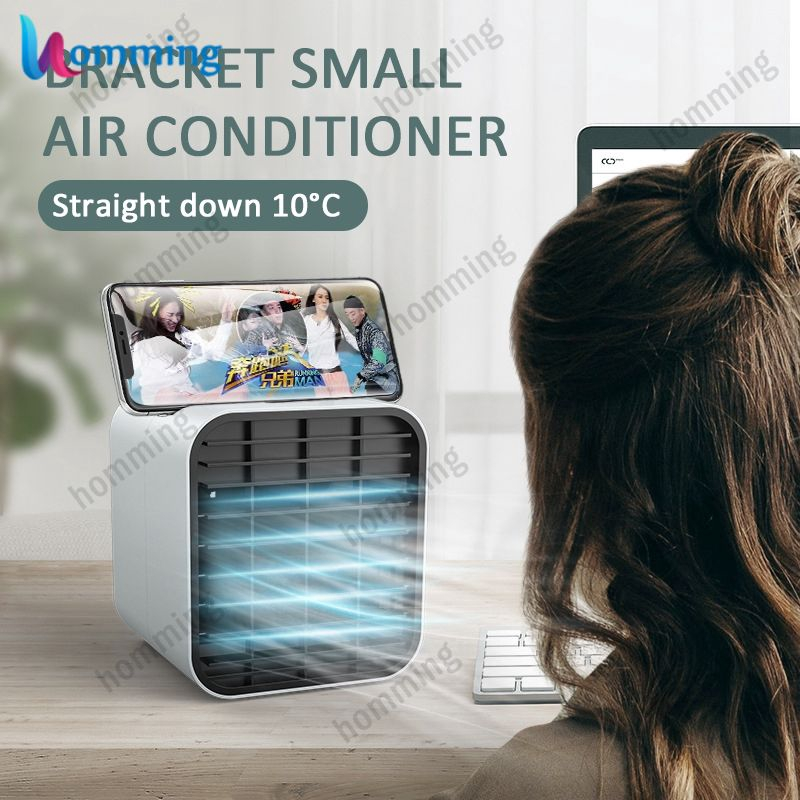 In Stock Mini Air Conditioner Cooling Artifact Desktop Defrigeration Spray Usb Small Fan Student Office Cooler Fan Hom Shopee Indonesia