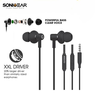 SonicGear Headset Hyperbass Buds1 Gaming Earphone With MIC Powerful Bass for Sport, Gaming, Music