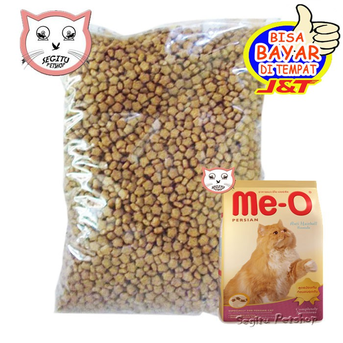 Makanan Kucing Me O Cat Food Meo Persian Repack 500gr Shopee