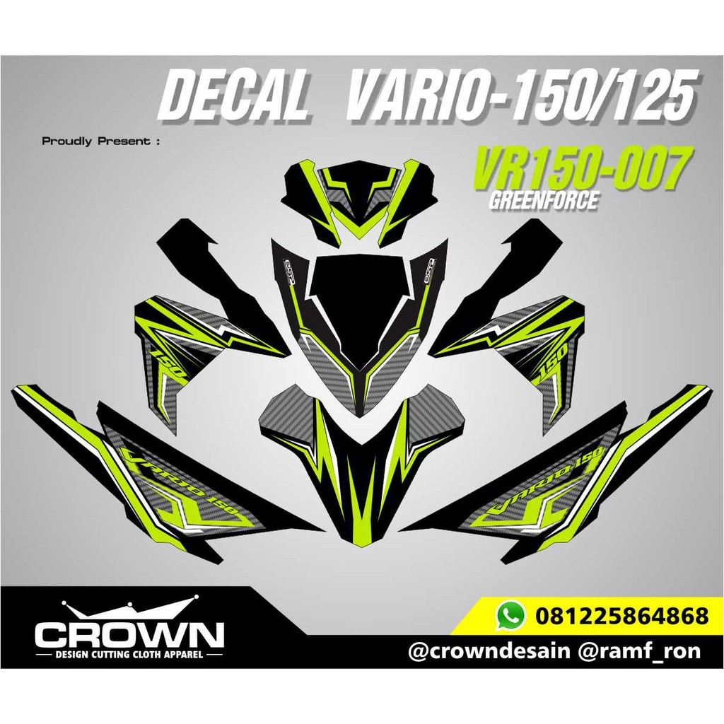 Sticker decal vario 150 125 greebforced shopee indonesia
