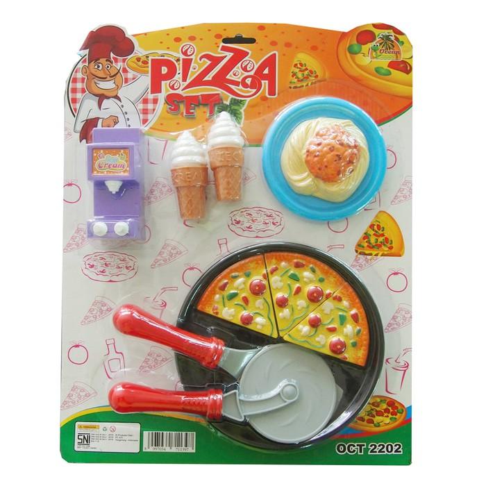Mainan Anak Memasak Memotong Pizza Ocean Toy Pizza Set Mainan Anak Multicolor Shopee Indonesia