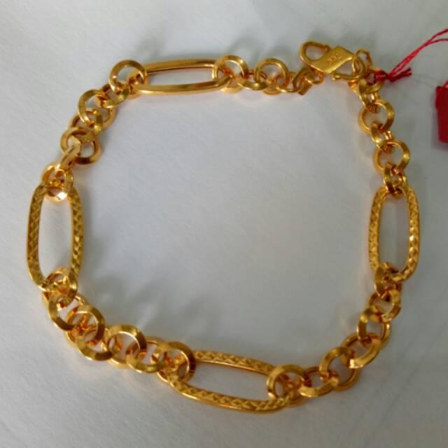 Gelang Cuff Untuk Wanita: Model Rantai Manik-manik Permen Warna-warni Hias Kristal / Nada Emas | Shopee Indonesia