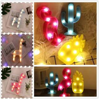 pc lampu hias kaktus nanas 3d untuk rumah kantor lampu