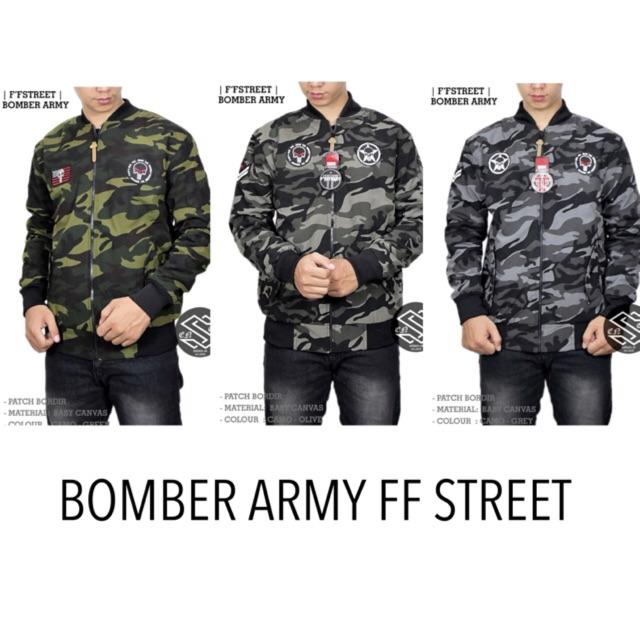Jaket Bomber Army Anak Bolak Balik Bahan Parasut Despo Fleece - Jaket Pilot  Loreng Hoodie  172f09ae4d