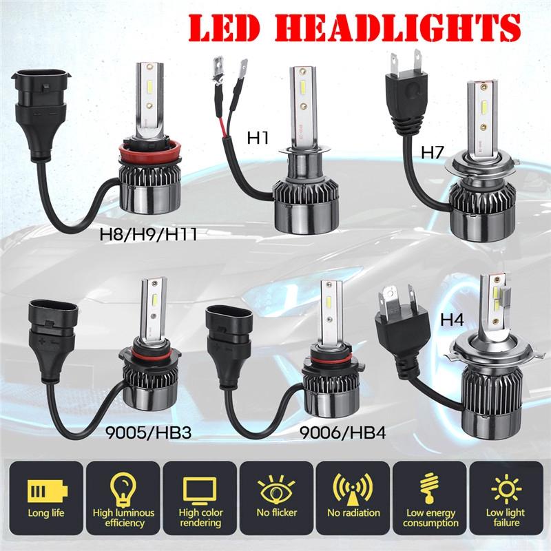 2pcs Lampu Depan G3 100w Led H1 H7 9005 Hb3 9006 Hb4 H4 H8 H9 H11 6000k Shopee Indonesia