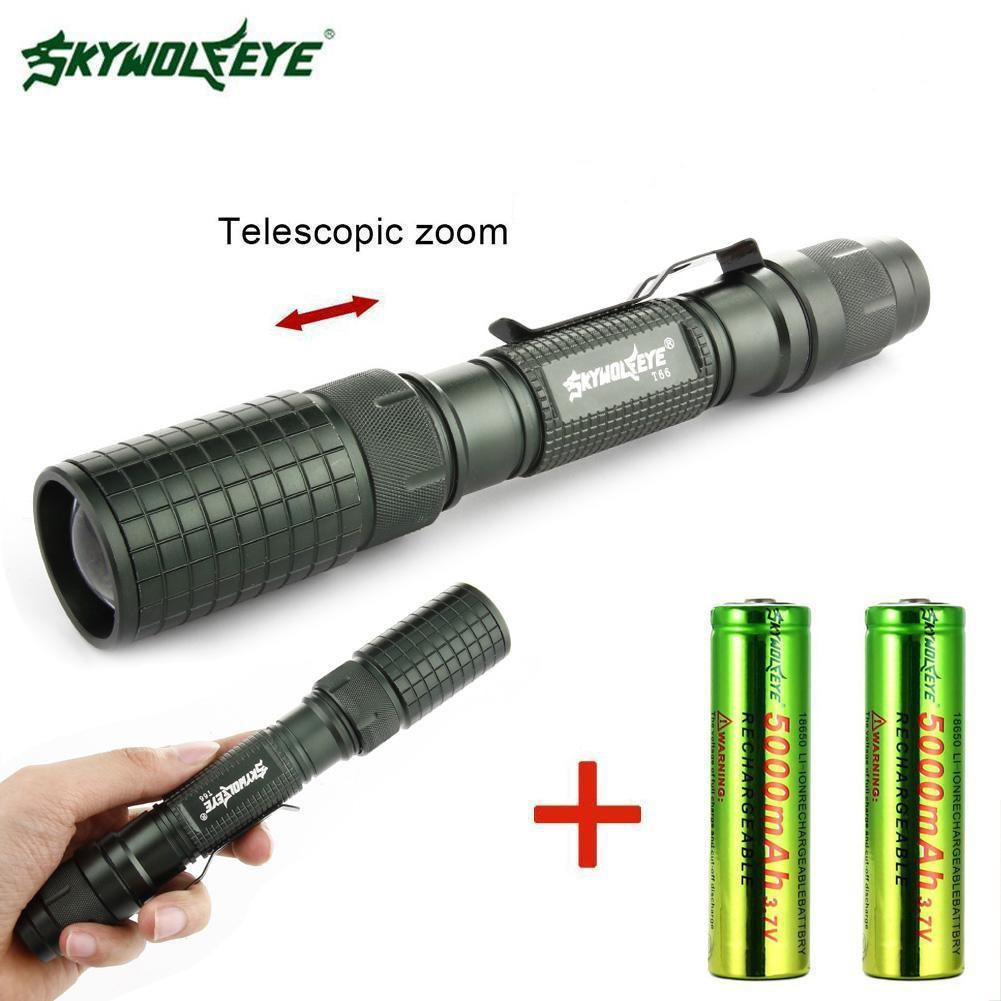 Flashlight 3500LM LED 18650 T6 LED Light Zoom Tactical Torch Light 5 Modes