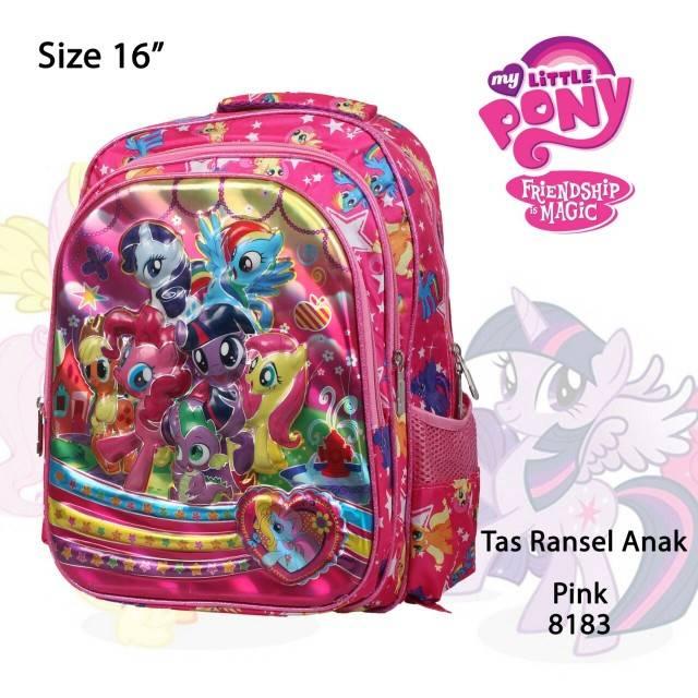 HQ tas punggung ransel gendong anak sekolah perempuan SD karakter 3 D 3D  timbul kuda poni pony 😉  5c8fa53e45