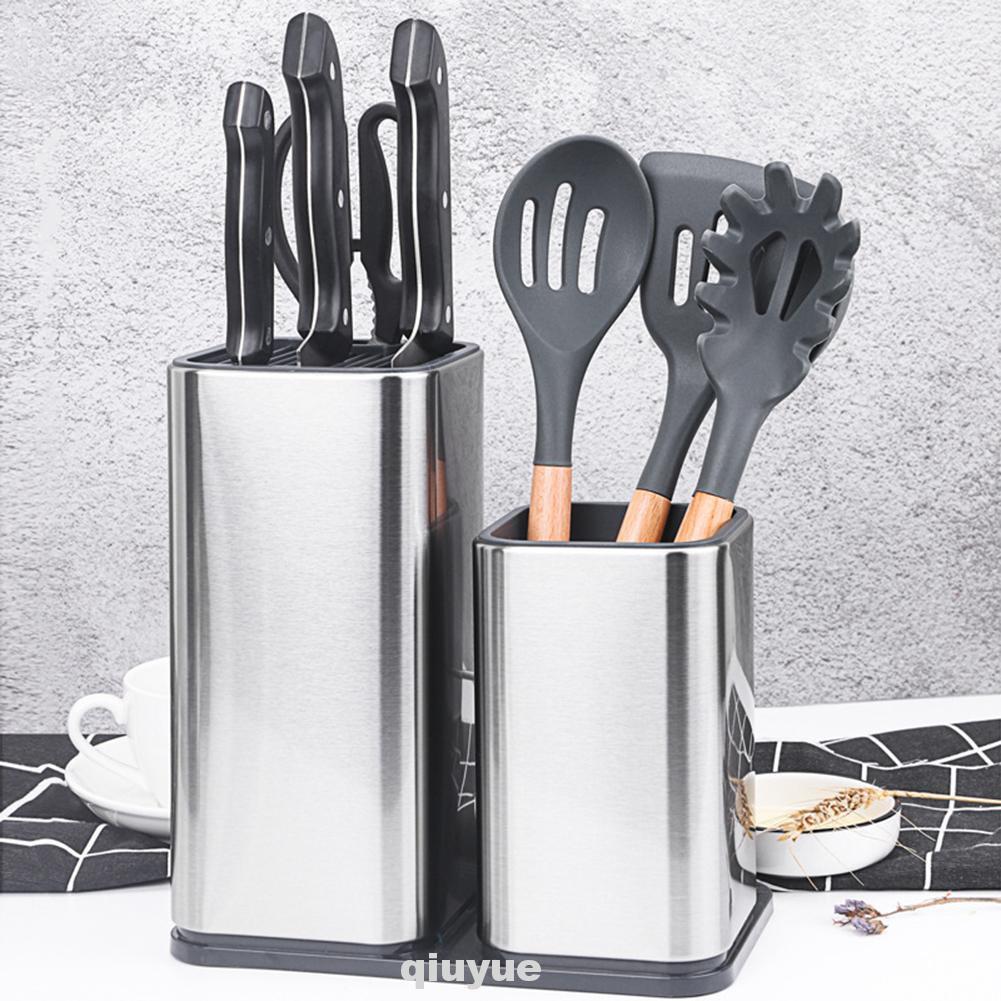 5pcs / Set Holder Peralatan Dapur Bahan Stainless Steel Anti Slip Mudah  Dibersihkan