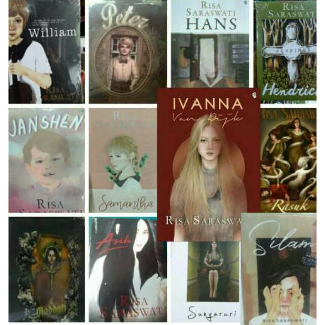 Diskon NOVEL RISA SARASWATI. DANUR. HANS. PETER. HENDRICK. WILLIAM. 5 NOVEL QR0095 | Shopee Indonesia