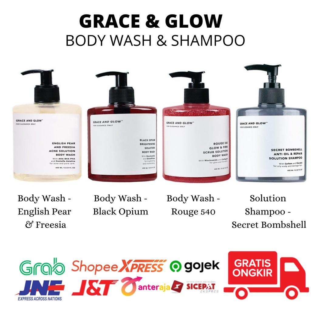 GRACE & GLOW BODY WASH AND SHAMPOO - Jaminan Ori 100%