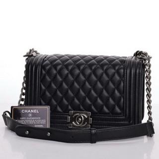 939334a66b1f TAS CHANEL BOY CLASSIC MEDIUM AP8001 Tas Chanel Boy Classic Medium Hitam  Semi Premium AP8001