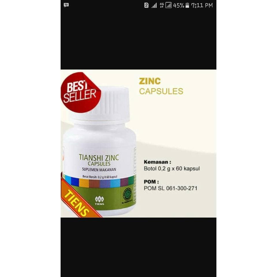 Tiens Zinc Capsules Original Tianshi 1 Botol Isi 60 Kapsul Daftar Kesehatan Herbal Terlowprice Spirulina 100 Shopee Indonesia