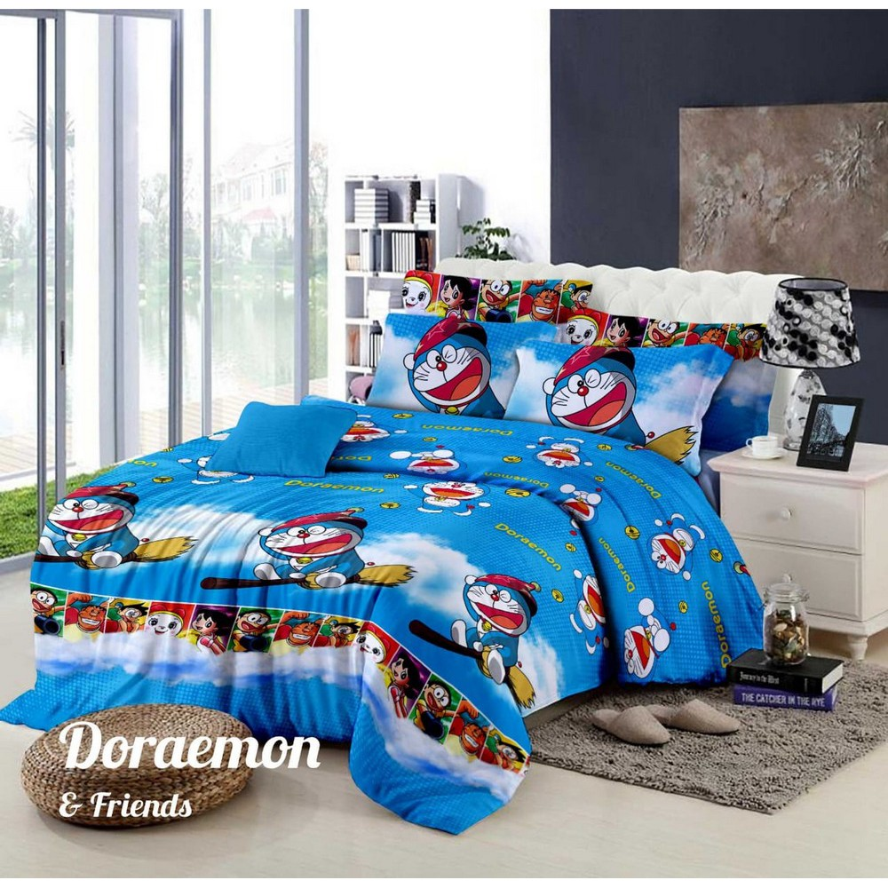 Sprei Queen Size Doraemon Batik Polkadot 160 X 200 Uk No 2 A2 Matras Protektor King Extra Shopee Indonesia