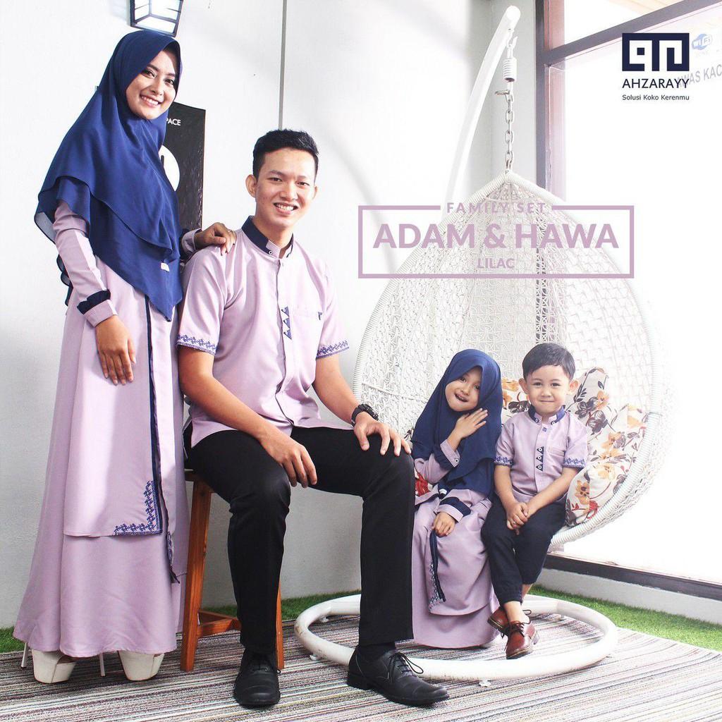 Baju Koko Dewasa Adam Series Warna Lilac Original by Ahzarayy