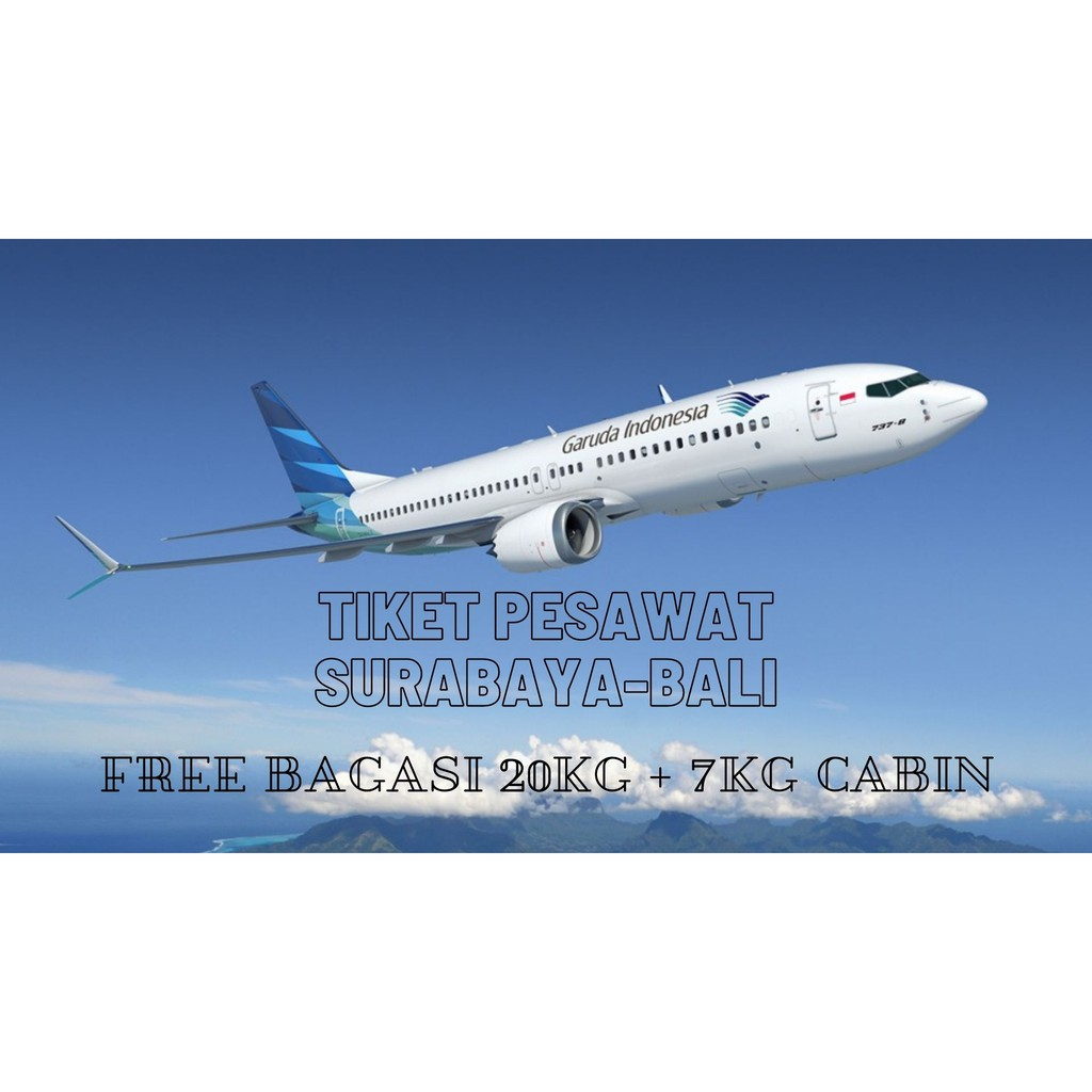 Harga Termurah Tiket Pesawat Surabaya Bali Shopee Indonesia