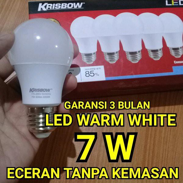 Promo Lampu Led Warm White 7w Krisbow Berkualitas Shopee Indonesia
