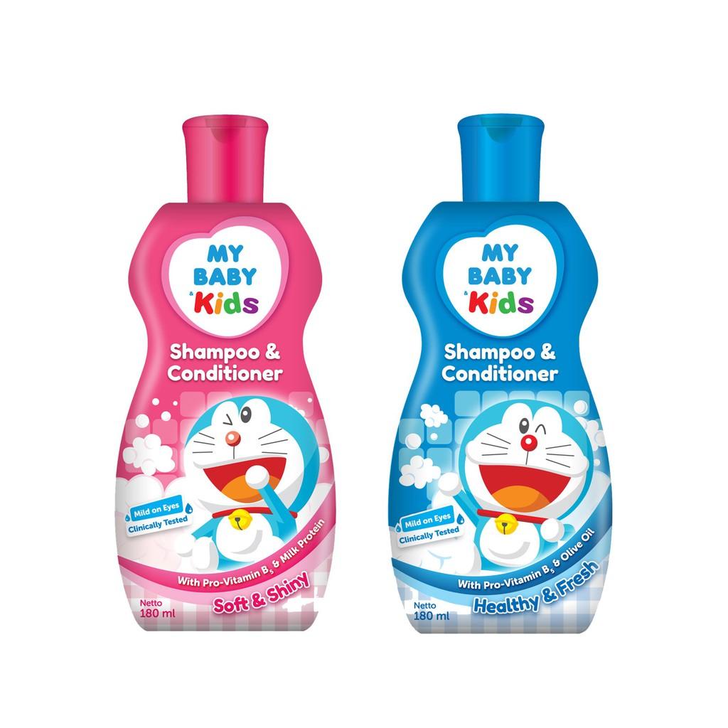 2 Pcs - My Baby Kids Doraemon Shampoo & Conditioner 180 mL
