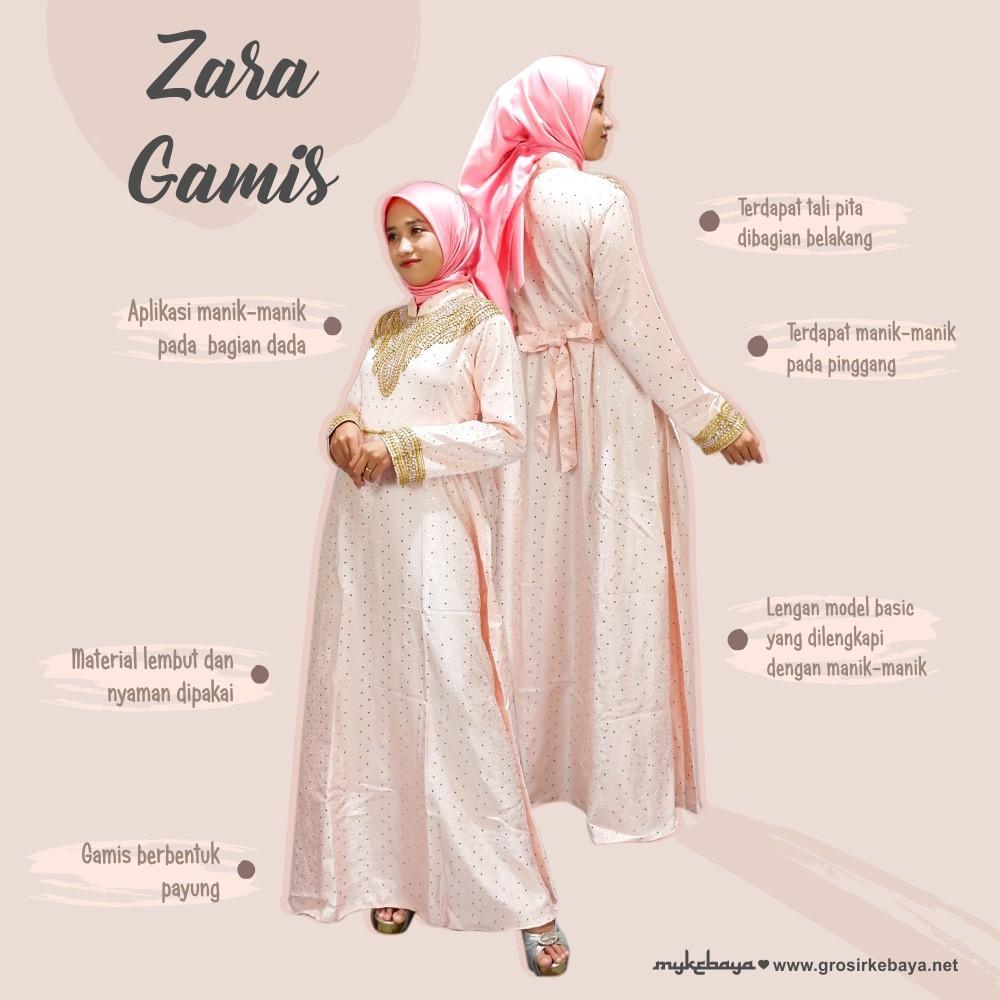 Zara Gamis Modern Gamis lebaran Termurah Dress Muslim Best seller