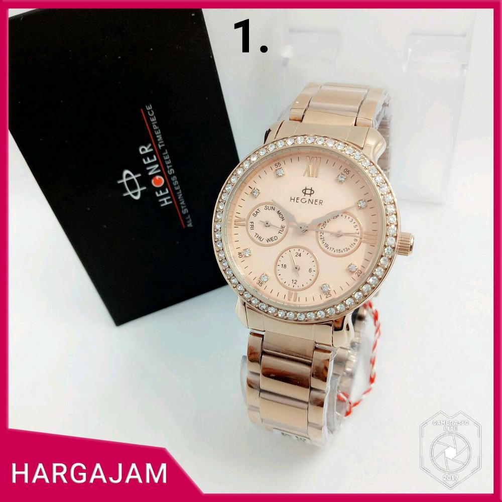 Anti Air - Jam tangan original couple hegner HW5035 Stainless Steel - hargajam sepasang anti air
