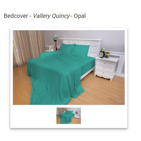 Vallery Quincy Bedcover King Warna Coffee 180x200x30 Cm - Daftar ... - Vallery White
