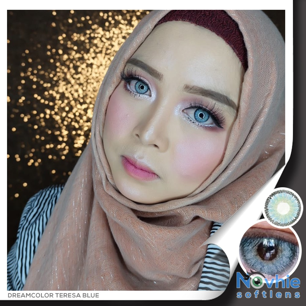 Softlens Nobluk Blue Dreamcolor Shopee Indonesia Diva Queen One Layer With Clear Vision