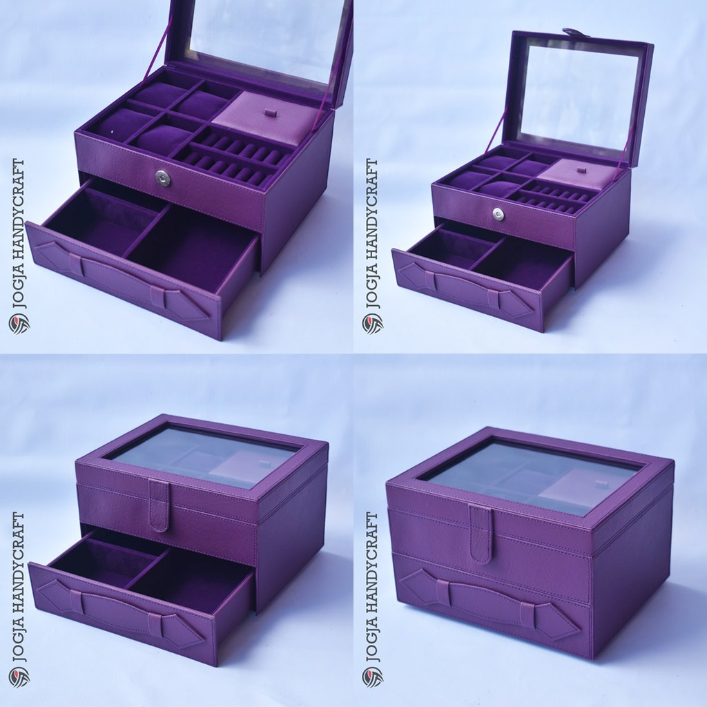 Kotak Tempat Jam Tangan Jumbo Mix Perhiasan Susun Full Black Coklat For Traveler Box Sport Isi 3 Shopee Indonesia