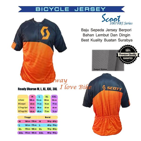 Baju Sepeda Scoot Tangan Panjang Best Kuality Ukuran L, XL | Shopee Indonesia