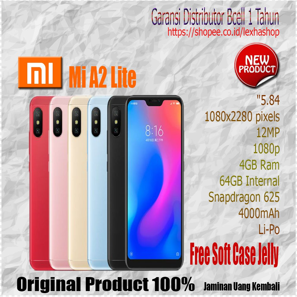 Xiaomi Mi A2 Lite Ram 3GB Internal 32GB Garansi Distributor Bcell