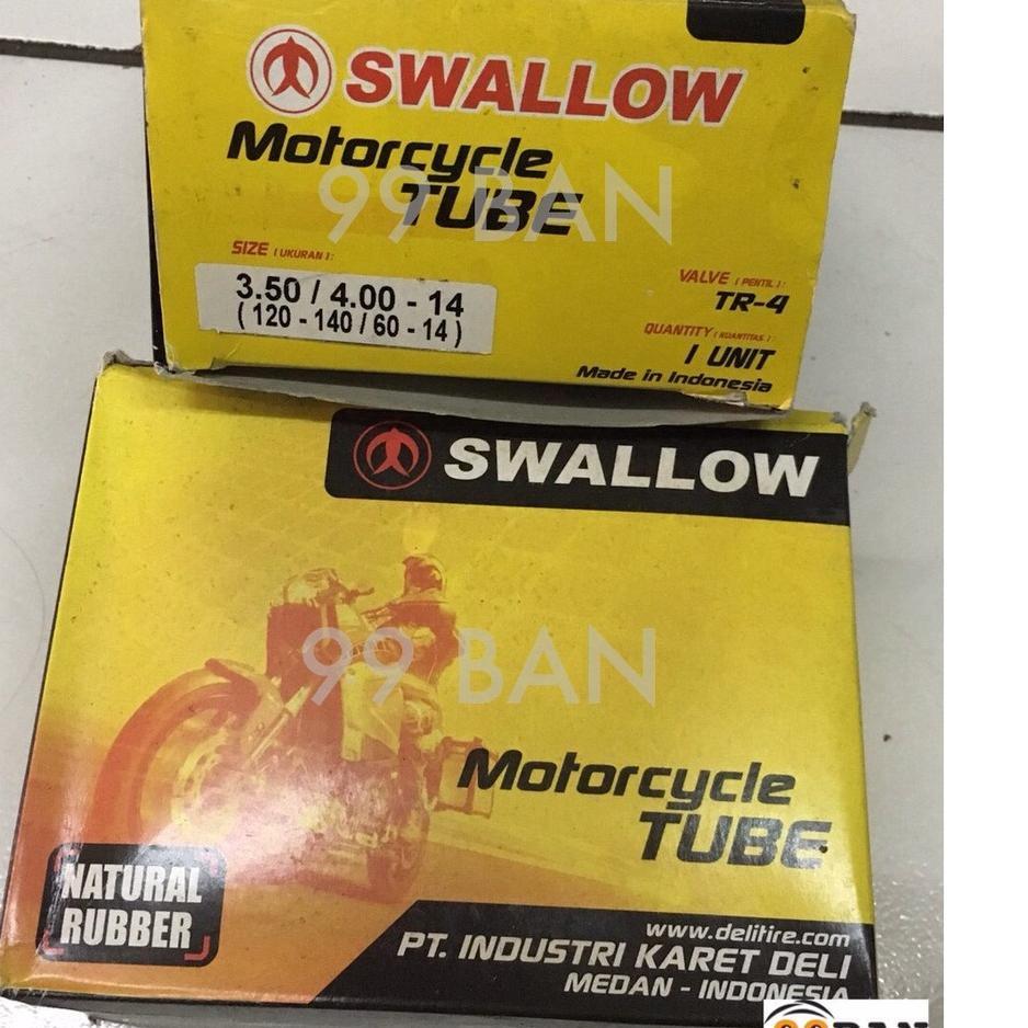 Best Product KAM7L BAN DALAM SWALLOW 350/400-14 | 100/80-14 | 110/80-14, BAN DALAM MOTOR VELG 14 UKU