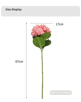 3d printing big buatan hydrangea bouquet bunga sutra bunga