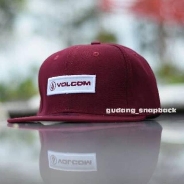 28eca1099bfd31 Topi Snapback Volcom Square logos black original import / hat | Shopee  Indonesia