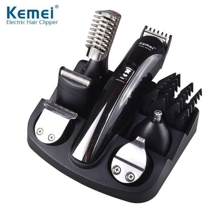 Alat Cukur Rambut 6 in 1 Multi Clipper and Shaver Paling Lengkap Kemei  KM600  16f2c76656