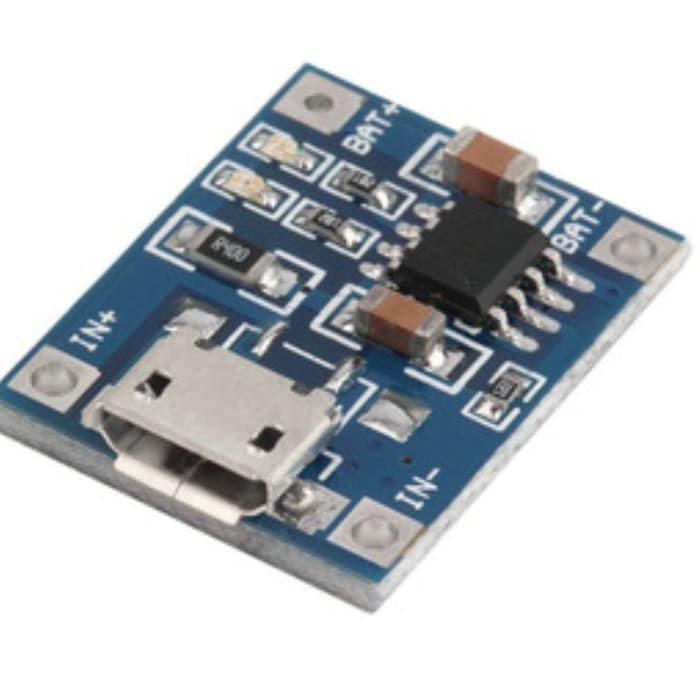 modul charger baterai tp4056 1A lithium 3.7v 4.2v micro usb Diskon