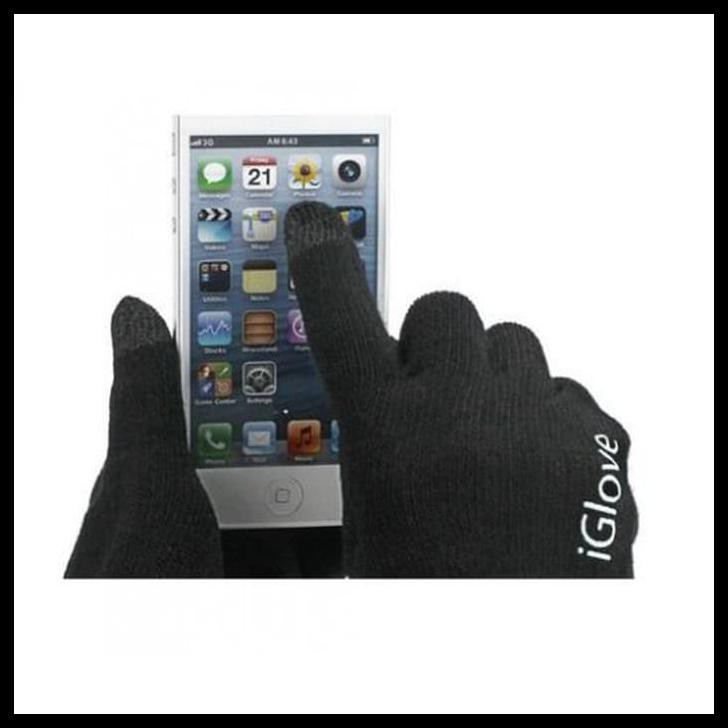 IGlove Touch Gloves For Smartphones & Tablet Sarung Tangan - Black   Shopee Indonesia