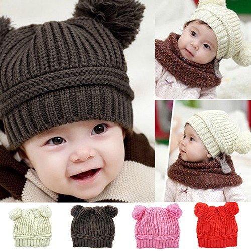Topi Bayi Kupluk Perempuan   Topi Anak Kupluk Cewek   Topi Bayi Boneka Lucu   b9e11d2d43