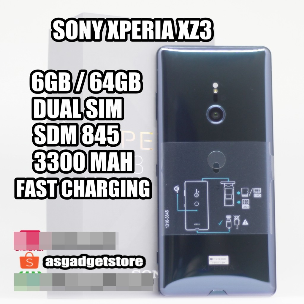 Sony Xperia Xz3 6gb 64gb New Bnib Segel Shopee Indonesia