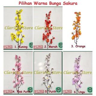 bunga sakura plastik t45cm - bunga sakura palsu dekorasi