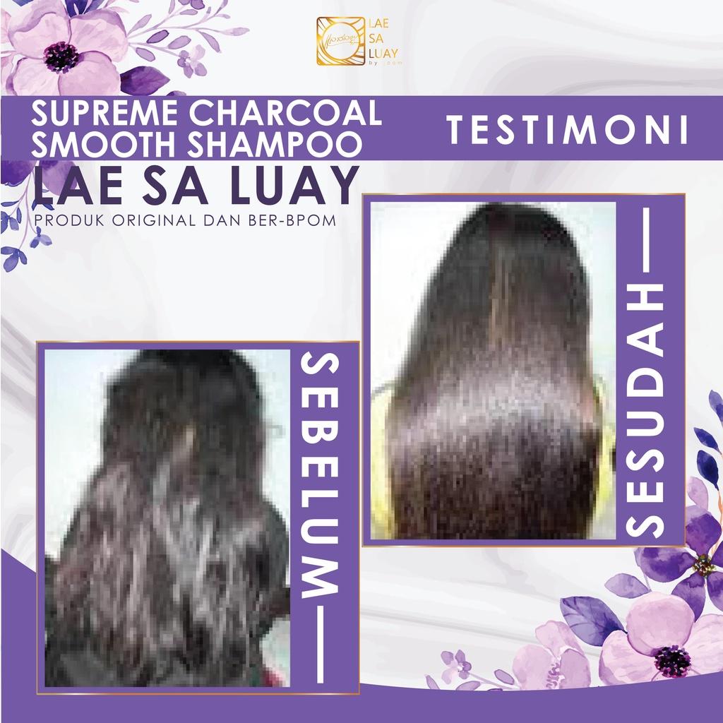 BPOM Lae Sa Luay Supreme Charcoal Smooth Shampoo / Keratin Shampoo 200ml-5