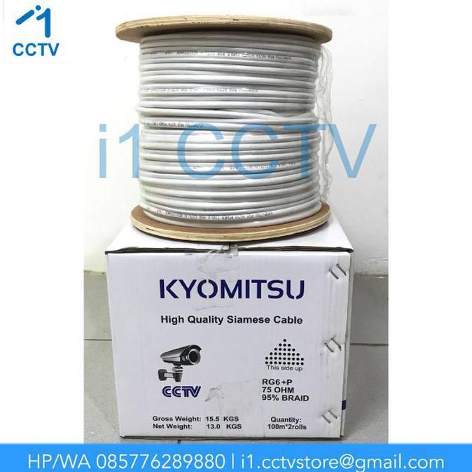 BIGPROMOO!!!| Kabel CCTV KYOMITSU RG6+POWER (1 Roll 100M) |Kabel CCTV
