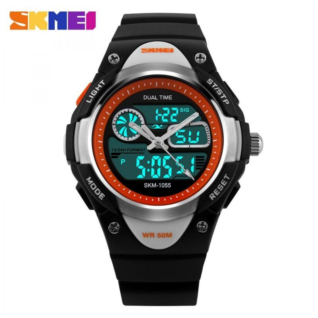 Jam Tangan Doubletime Bisa Dipakai Renang Skmei Original Date Alarm Pria Digital Analog Keren Ad1040 Cowok Countdown Chrono Dg1267 Shopee Indonesia