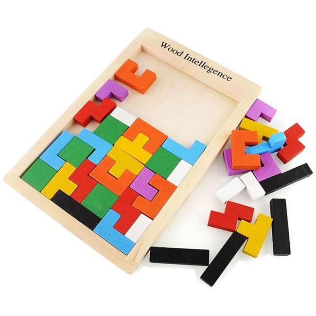 [Bayar di Tempat]1 Buah Mainan Puzzle Domino Balok Kayu dengan Desain Gambar Binatang Naga | Shopee Indonesia