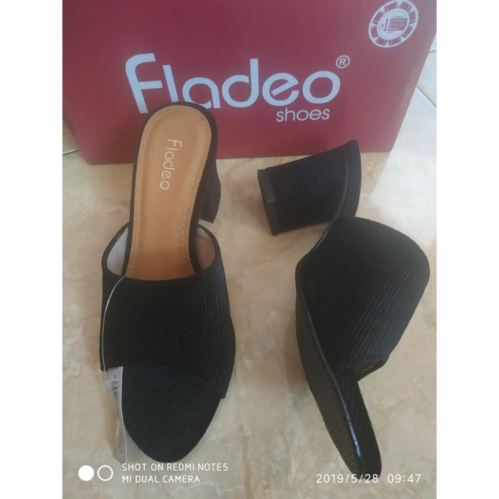 wedges cantik bludru LDH32-3 sz 37 & 40 merk Fladeo