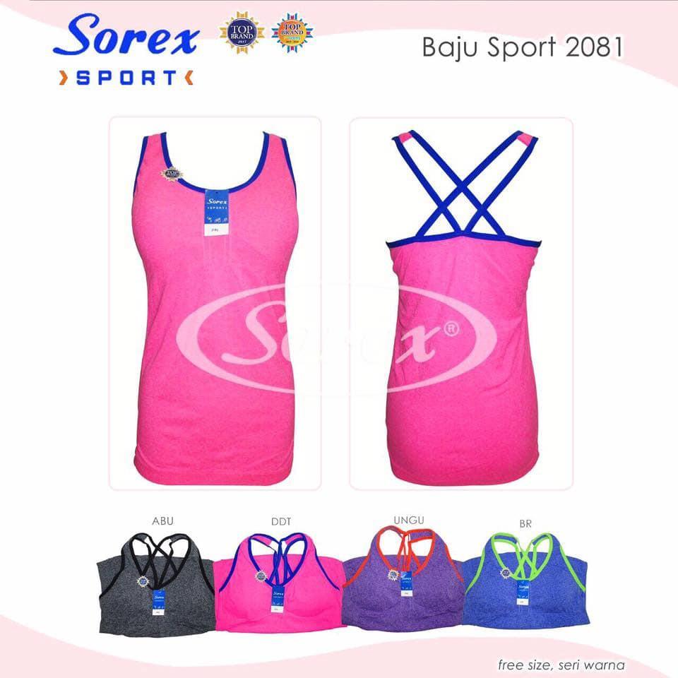 Pusatbra Baju Olahraga Kaos Sport Sorex 2098 Super Comfy Shopee Bra Kemben 8736 Indonesia