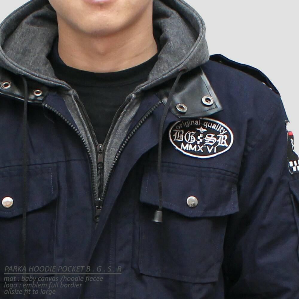 Sweater Jaket Hoodie PARKA PRIA KANVAS BGSR RACING ORIGINAL PREMIUM DISTRO LIMITE B.G.S.R   Shopee Indonesia