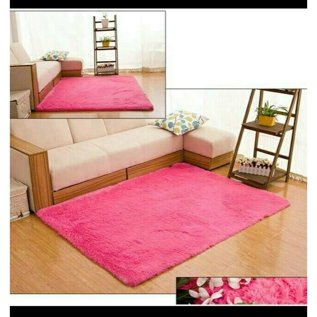 Karpet bulu rasfur polos uk140x100cm tebal 3 4cm Shopee