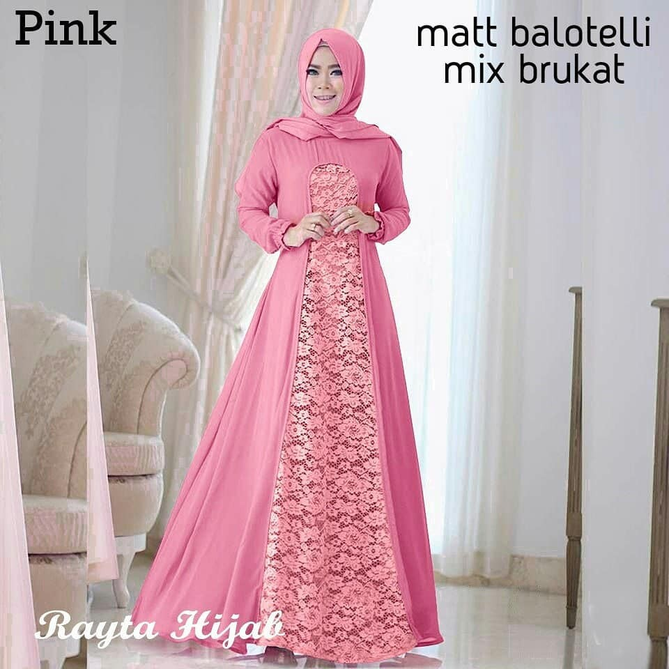 Rayta Off Kebaya Modern Hijab Remaja Style Modis Cantik Brokat Aurora Two Tone Terbaru Mint Moca
