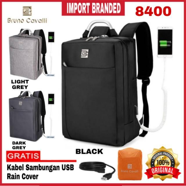 Bruno Cavalli 8400 Tas Punggung Pria/Wanita Tas Ransel Tas Laptop Backpack Import Original Tas Batam