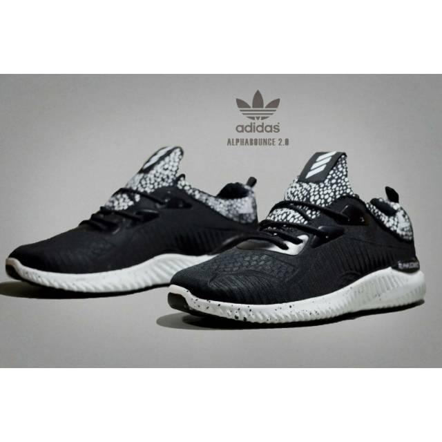9f30e75cd Harga Diskon Sepatu Adidas Alphabounce Pria Grade Ori Vietnam Sneakers  Olahraga Running