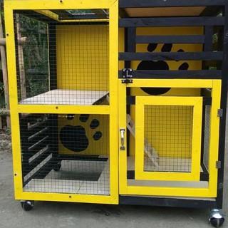 Kandang Kucing Rumah Kucing Kayu Order Yukkk Shopee Indonesia